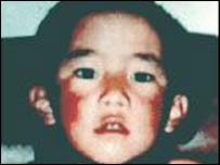 Gedhun Choekyi Nyima, who was named as the true reincarnation of the Panchen Lama by the Dalai Lama (file)
