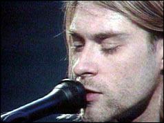 Kurt Cobain singing