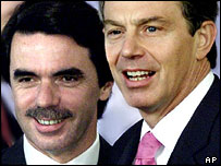 Tony Blair and Jose Maria Aznar