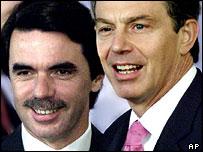 Tony Blair and Jose Maria Aznar