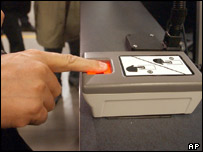 Biometric device at JFK airport