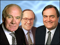 Menzies Campbell, Michael Ancram and John Prescott