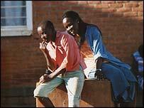 Esther Mujaweyo meets an orphan in Nyarubuye