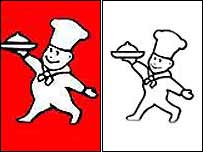 The old Little Chef logo (left) and proposed new one