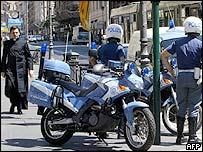 Italian police in Rome