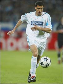 Marseille's Brahim Hemdani in action