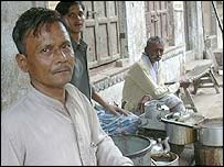 The Mohammad Ilyas tea shop in Benaras