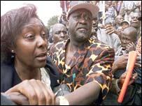Charity Ngilu (l) Raila Odinga(r)