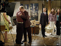 Frasier cast on set