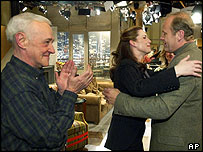 John Mahoney, Peri Gilpin and Kelsey Grammer