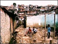 Sao Paulo slum area
