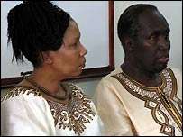 Ngugi wa Thiong'o and his wife