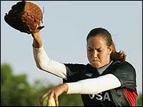 Cat Osterman in action