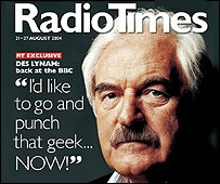 Des Lynam on cover of the Radio Times