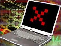 Laptop computer symbolising online voting