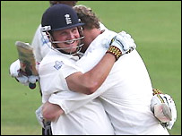 Key and Flintoff shared an unbroken stand of 120