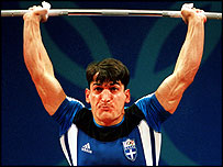 Greek weightlifter Pyrros Dimas