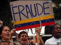 Opositores a Chávez sostienen que se produjo un fraude