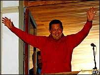 President Chavez hailing the result