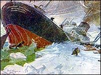 Гибель ''Челюскина'' на рисунке штатного художника судна