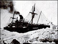''Челюскин'' во льдах на рисунке штатного художника судна