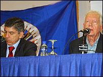César Gaviria y Jimmy Carter