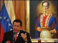 Presidente Hugo Chávez.