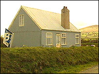 The corrugated house in Aberdaron