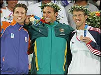 The 200m freestyle medalists