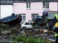 Aftermath of Boscastle flood