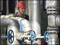 Chinese worker in oil refinery