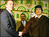 Tony Blair and Colonel Gaddafi