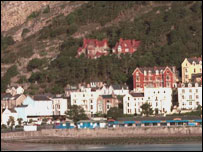The seaside resort of Llandudno