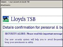 A phishing site