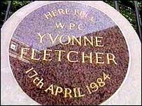 Wpc Yvonne Fletcher's memorial