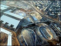 Aerial view of the Main Olympic Sport Complex in Maroussi