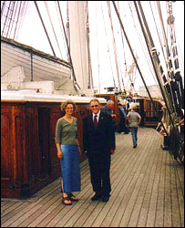 Cutty Sark Trust CEO Richard Doughty and BBC WS Discovery presenter Georgina Ferry