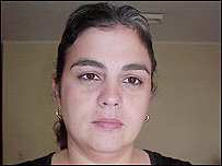 Gisela Delgado, esposa de uno de los disidentes encarcelados