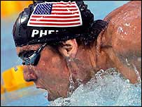 Michael Phelps on his way to victory in the 200m butterfly final