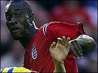 England striker Carlton Cole