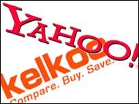 Yahoo and Kelkoo logos