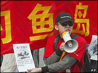 Demonstrator in Beijing