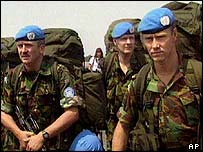 British peacekeepers in Rwanda