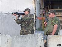 Georgian troops