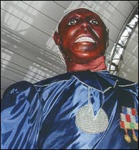 Vernon Williams 'king' costume for 2004 carnival