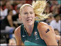 Australia's Lauren Jackson, who scored 31 points