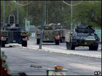 British tanks in Basra