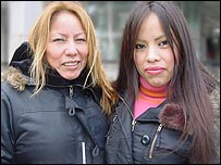 Sabina (l) and Katherine Aniceto (r)