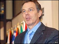 Tony Blair in Brussels on Friday