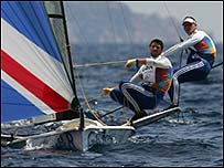 British 49er sailors Chris Draper and Simon Hiscocks